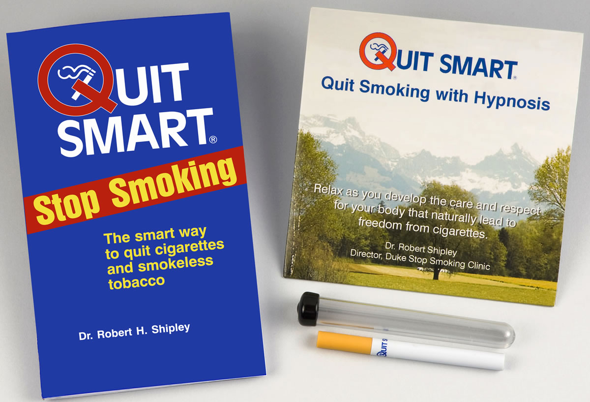 QuitSmart Stop Smoking Kit: Quit Smoking Hypnosis CD, Quit Smoking Book, QuitSmart cigarette substitute
